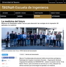Curso Impresión 3D para Médicos de la OSI Donostialdea