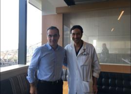 El Dr. G Garmendia con el Dr. K Toujier