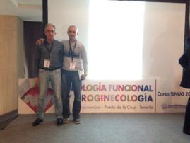 Los Drs. J Ansa y JC Garmendia en el Curso de la SINUG Tenerife 17