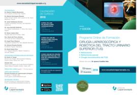 Anuncio del Ier Curso On Line de Cirugía Laparoscópica y Robótica del TUS.