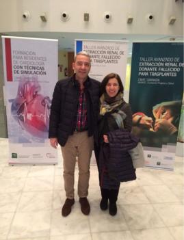 La Dra. Villafruela con el Dr. J Gallego, Jefe del S. de Urología del H de Galdakao (Bizkaia)