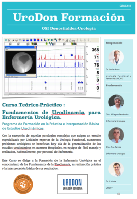Fundamentos de Urodinamia para Enfermería Urológica.