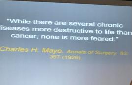 Recordar esta frase del Dr. Ch Mayo NO está nada mal para comenzar la Reunión