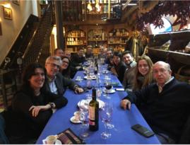 Cena en Casa Rufo, con Maite Esparza, JM Fernández, M Ruibal...