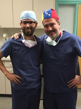 El Dr. V Rubio con el Dr. René Sotelo en su rotación Ene-Feb 2018