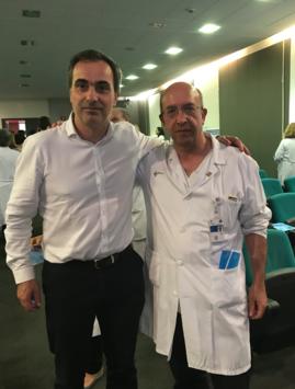 Los Drs. G Garmendia y JP Sanz Jaka, al final del Acto