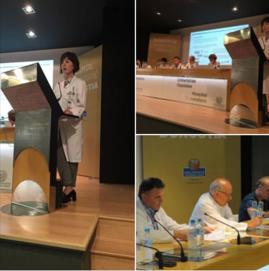 Josune Retegi presentando el Proyecto Izarki