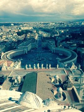 Roma desde la cúpula de San Pedro